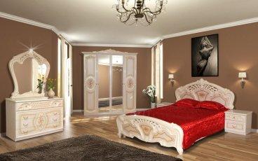 Модульная спальня Кармен с 4-х дверным шкафом