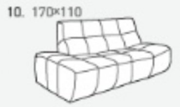 Модуль 10 к кожаному диван у Бостон