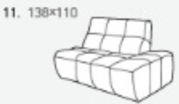 Модуль 11,12 к диван у Бостон
