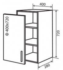 Модуль №3 в 400-720 верх кухни «Техас»