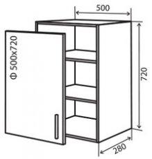 Модуль №5 в 500-720 верх кухни «Техас»