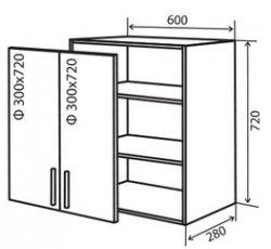 Модуль №5 в 600-720 верх кухни «Техас»