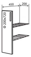 Модуль №1+ в 200-820 низ кухни карго «Техас»