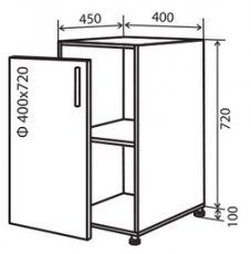 Модуль №3 в 400-820 низ кухни «Техас»