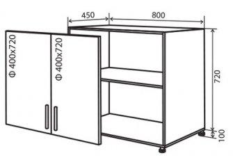 Модуль №7 в 800-820 низ кухни «Техас»