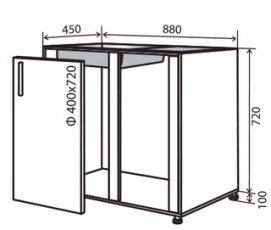 Модуль №15 в 880-820 низ кухни мойка «Техас»