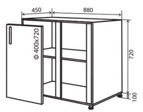 Модуль №16 в 880-820 низ кухни мойка «Техас»
