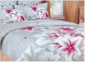 Семейный комплект постельного белья Wonderline -11WL Grey
