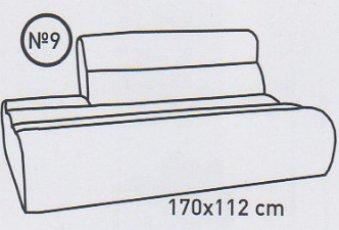Модуль 9,10 к кожаному дивану Мегалайф