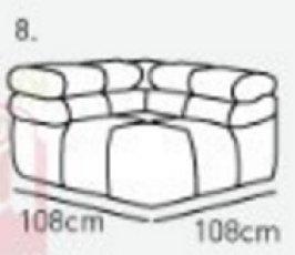 Модуль 8 к кожаному дивану Мегамакс