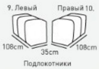 Модуль 9 (подлокотник) к кожаному диван у Мегамакс