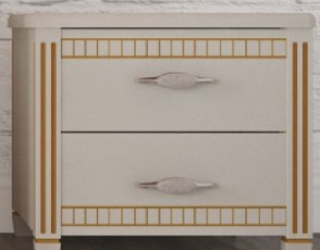 Тумба Монако (белый+патина)