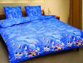 Полуторный комплект постельного белья Аквариум -593