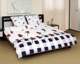 Полуторный комплект постельного белья Бутон комби -594