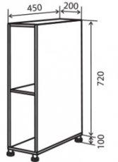Модуль №1 н 200-820 низ кухни «Максима»