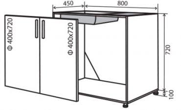 Модуль №14 м 800-820 низ кухни мойка «Максима»