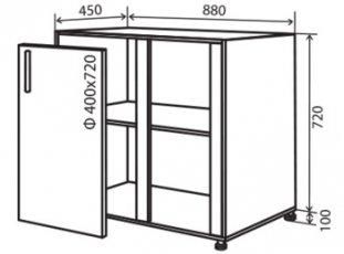 Модуль №16 ну 880-820 низ кухни «Максима»