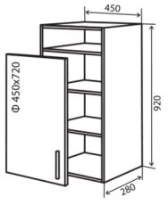 Модуль №34 вп 450-920 верх кухни «Максима New»