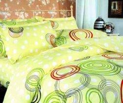 Евро комплект постельного белья Цветные круги -606
