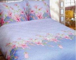 Евро комплект постельного белья Голубая лилия -659