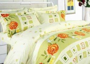 Двухспальный комплект постельного белья Роза с кубиками -595
