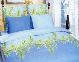 Двухспальный комплект постельного белья Голубой ландыш -653