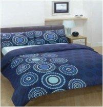 Двухспальный комплект постельного белья Африкана синяя -724