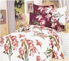 Двухспальный комплект постельного белья Лилия -737