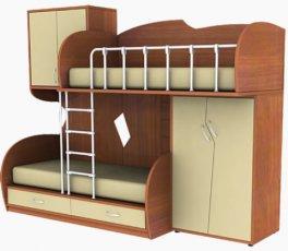 Мебельный комплект МК П 51/МК Л 52 (с лестницей) Планета Луна