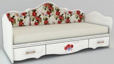 Кровать односпальная К 4-1 с накл. Прованс в стиле Шебби Шик