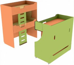 Кровать двухъярусная раздвижная четырехместная ДУ-КДР4 Детcад