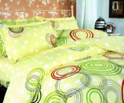 Семейный комплект постельного белья Цветные круги -606