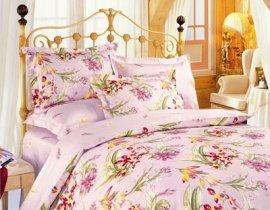 Семейный комплект постельного белья Розовые ириски -637