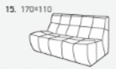 Модуль 15 к кожаному диван у Бостон