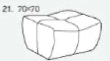 Модуль 21 к кожаному дивану Бостон