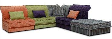 Кожаный модульный диван Китч