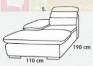 Модуль 5,6 к кожаному модульному диван у Оливер
