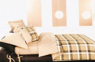 Семейный комплект постельного белья Шотландка коричневая -733