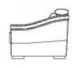 Модуль подлокотник Б к дивану Беллуно