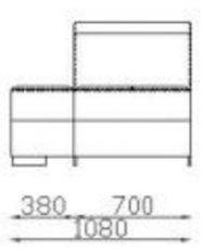 Модуль одинарный 1С70б/я-пуф к дивану Беллуно