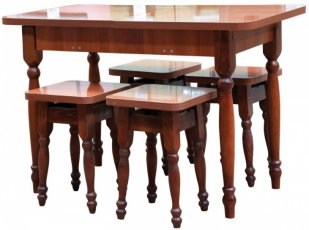 Стол кухонный (раздвижной/нераздвижной) + 4 табуретки