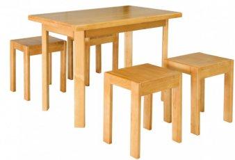 Стол кухонный Олимп + 2 табуретки