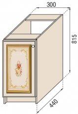 Модуль Н 30 низ кухня Парма