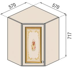 Модуль В 57*57 верх угол кухня Парма