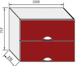 Модуль В 100Б верх кухня Адель Люкс