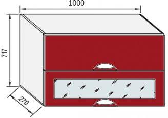Модуль В 100БСк верх кухня Адель Люкс