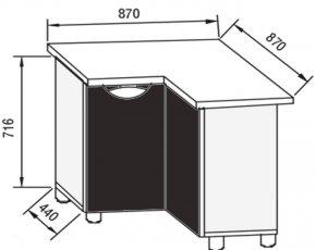 Модуль Н 87*87 низ кухня Адель Люкс