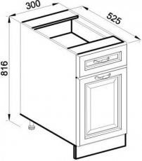 Модуль Н 30 низ кухня Роксана