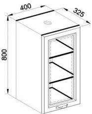 Модуль В 40Ск верх кухня Роксана
