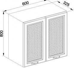 Модуль В 60 2Д верх кухня Роксана